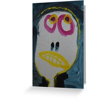 Elisabeth - Graphic Portrait In Acrylic Greeting Card