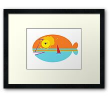 Beach Whale Framed Print