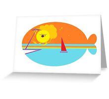 Beach Whale Greeting Card