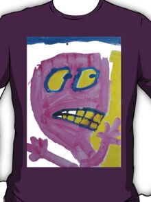 Toby - Pink Graphic Face T-Shirt