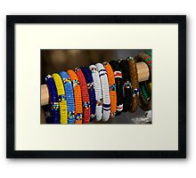 Coloured Bracelets Framed Print