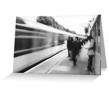 Train arriving at Brockley Greeting Card