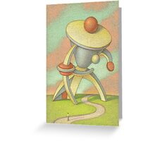 Man with a large collar Greeting Card