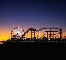 Santa Monica Sunset by Maciej Nadstazik