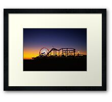 Santa Monica Sunset Framed Print