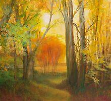 Autumn Aspens Grove by Sue Cervenka