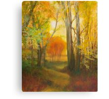 Autumn Aspens Grove Canvas Print