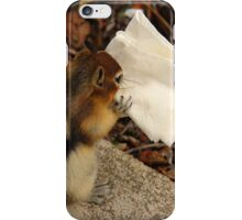 Chipmunk Eating Napkin iPhone Case/Skin