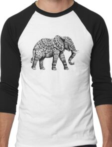 Ornate Elephant 3.0 Men's Baseball ¾ T-Shirt