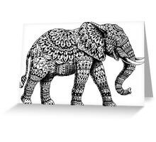 Ornate Elephant 3.0 Greeting Card