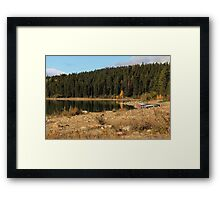 Pyramid Lake, Jasper National Park Framed Print