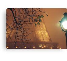 Fog over Tour Eiffel - Paris Canvas Print