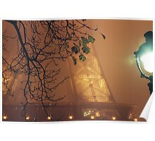 Fog over Tour Eiffel - Paris Poster