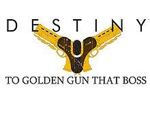 Destiny Golden Gun by nakeciawinona