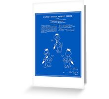 Jose Carioca Patent - Blueprint Greeting Card