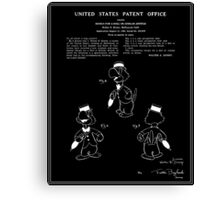 Jose Carioca Patent - Black Canvas Print
