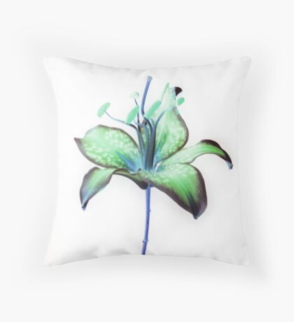 Star Gazer in Green Throw Pillow