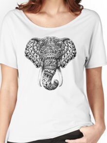 Ornate Elephant Head Women's Relaxed Fit T-Shirt
