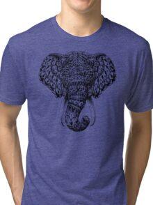 Ornate Elephant Head Tri-blend T-Shirt