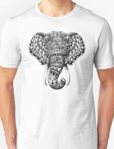 Ornate Elephant Head Unisex T-Shirt