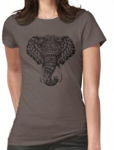 Ornate Elephant Head Womens Fitted T-Shirt