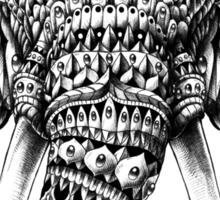 Ornate Elephant Head Sticker
