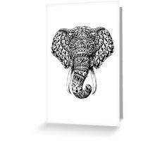 Ornate Elephant Head Greeting Card