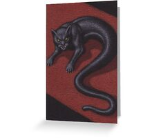 The Tatzelworm, a Sicilian Dragon Greeting Card