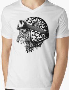 Tiger Helm Mens V-Neck T-Shirt