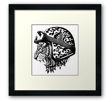 Tiger Helm Framed Print