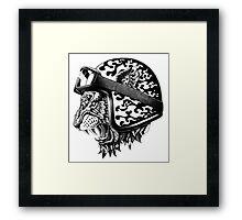 Tiger Helm Framed Print