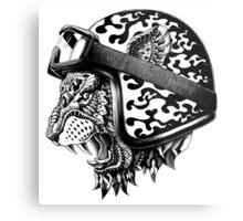 Tiger Helm Metal Print