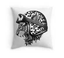 Tiger Helm Throw Pillow