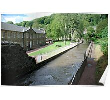 New Lanark - the mill and waterhouses Poster