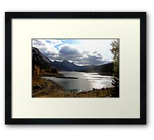 Medicine Lake, Jasper National Park Framed Print