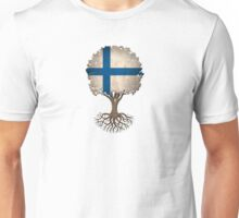 Tree of Life with Finnish Flag Unisex T-Shirt
