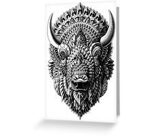 Bison Greeting Card