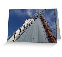 Boat sail and sky Greeting Card