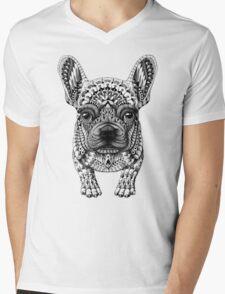 Frenchie (French Bulldog) Mens V-Neck T-Shirt