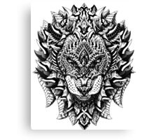 Ornate Lion Canvas Print