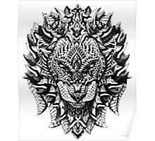 Ornate Lion Poster