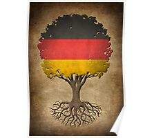 Tree of Life with German Flag Poster