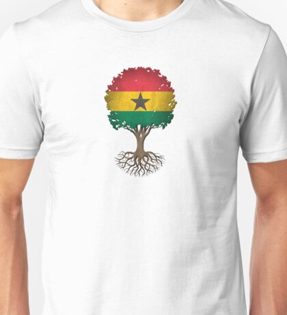 Tree of Life with Ghana Flag Unisex T-Shirt