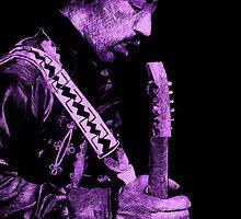 Jimi Hendrix [Purple]... by Doug Afasene