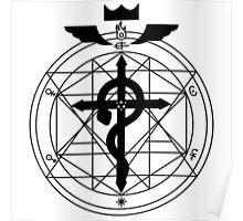Fullmetal Transmutation - Black Poster