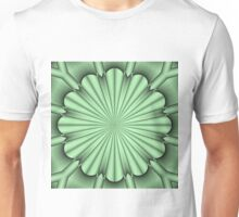 Abstract Flower in Green Unisex T-Shirt