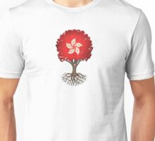 Tree of Life with Hong Kong Flag Unisex T-Shirt