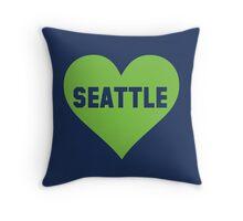 I Love Seattle Football Women's Shirt Throw Pillow