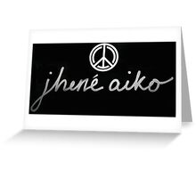 Jhene Aiko Logo Greeting Card