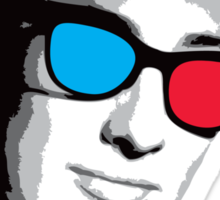 Buddy Holly 3D Glasses Sticker